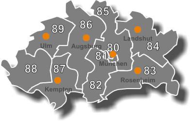 Karte 84 plz gebiet Außendienstmitarbeiter m/w/d